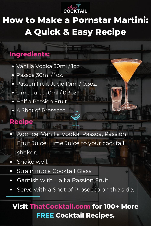 How To Make A Pornstar Martini A Quick Easy Guide
